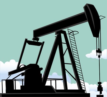 oil well: Oil well Illustration