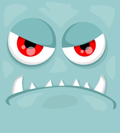 Cute monster face