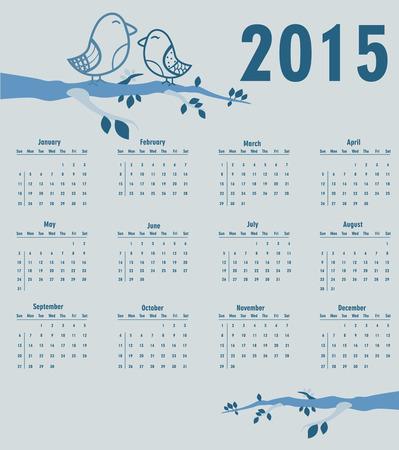 Calendar for year 2015