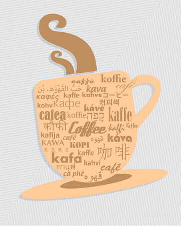 cosiness: Cup of coffee in 36 different language