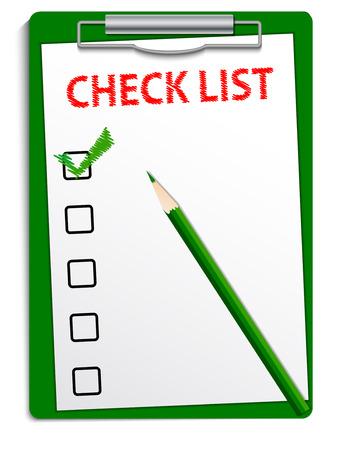 Clipboard checklist Ilustracja