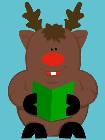 cartoon reindeer: Cute cartoon reindeer Illustration