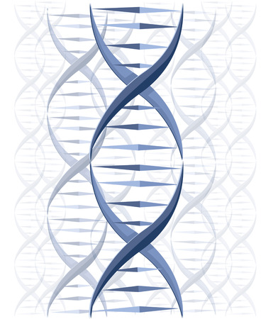 researches: DNA vector background Illustration