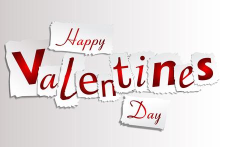 Paper Valentines Day Illustration