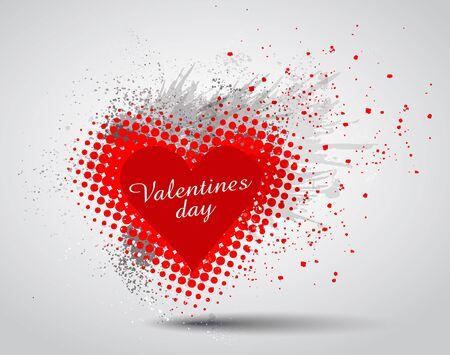hart: Grunge Valentines Day hart background