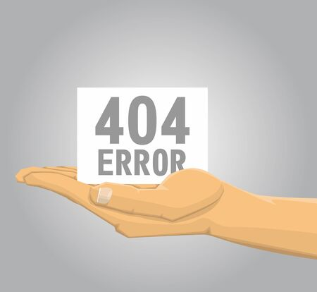 disconnected: Hand holding a 404 error note