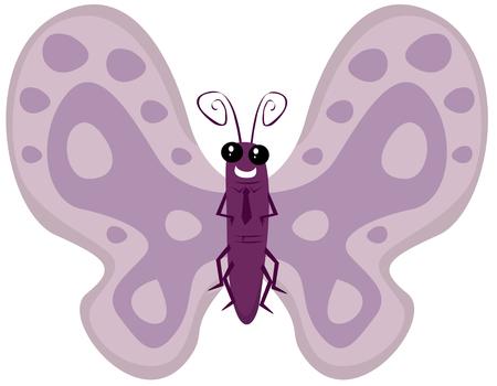 lepidopteran: Cartoon butterfly