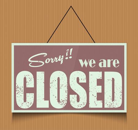 closed: Closed sign