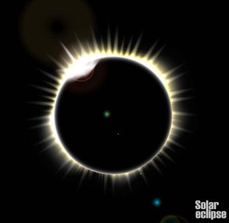corona: Solar eclipse