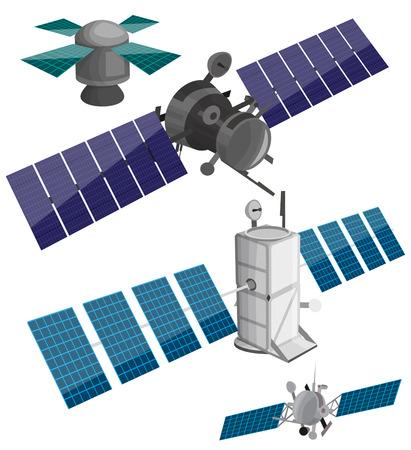 Satellite set Stock Illustratie