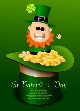 St. Patricks Day hat with leprechaun