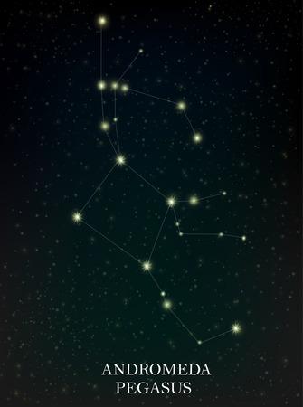Andromeda and Pegasus constellation