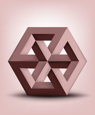 Impossible cube Illustration