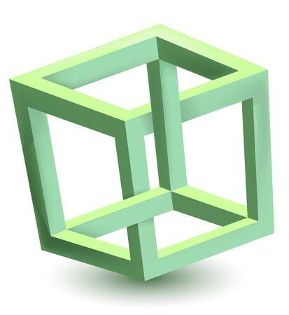 orthogonal: Impossible cube Illustration