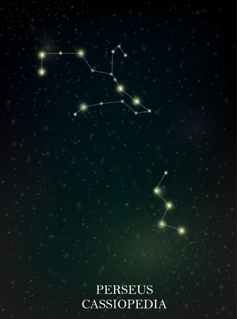 Perseus and Cassiopedia constellation