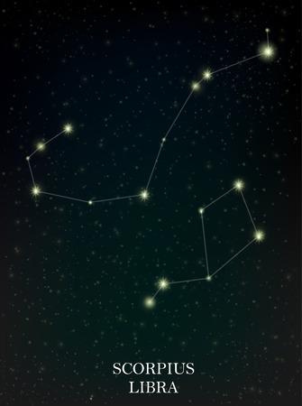 Scorpius and Libra constellation