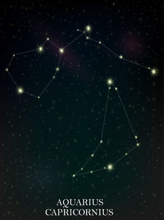 starbright: Aquarius and Capricornius constellation Illustration