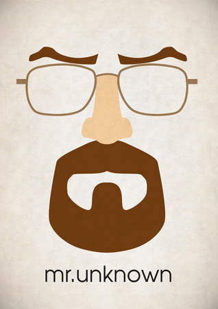 fake nose and glasses: Mustache glasses eyebrows Illustration