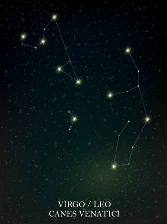 Virgo, Leo and Canes Venatici constellation