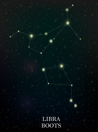 Libra and Boots constellation Illustration