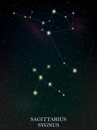 Sagittarius and Sygnus constellation