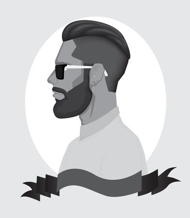 Trendy Hipster Men Vector