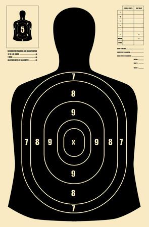 Black human target Ilustracja