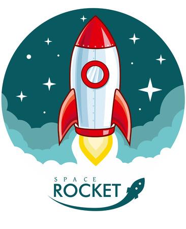 booster: Rocket de la historieta Vectores