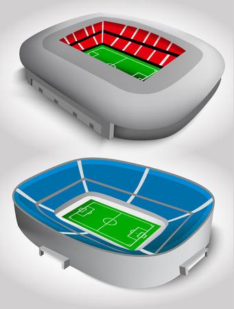 soccer stadium: Estadio del f�tbol Vectores