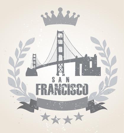 Grunge San Franciso icon laurel weath