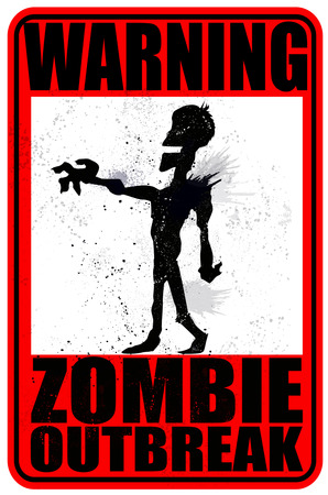 outbreak: Warning Zombie Outbreak Illustration