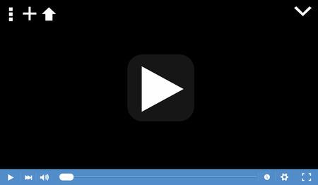 video player: Video player Illustration
