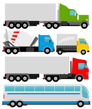 motor de carro: Camiones de vectores