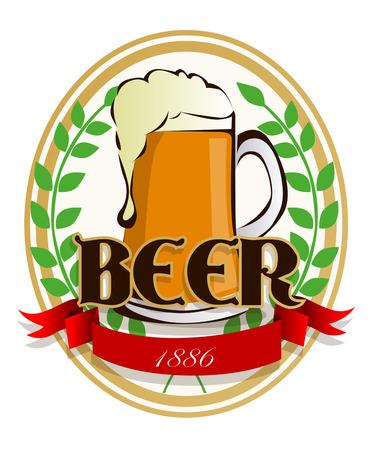 Beer label Ilustração