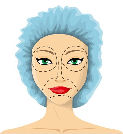 face surgery: Woman is preparing to plastic surgery