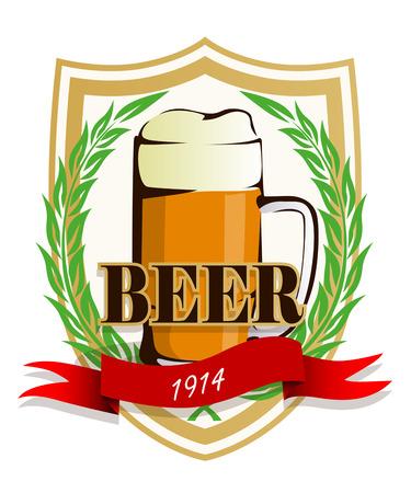 label: Beer label Illustration