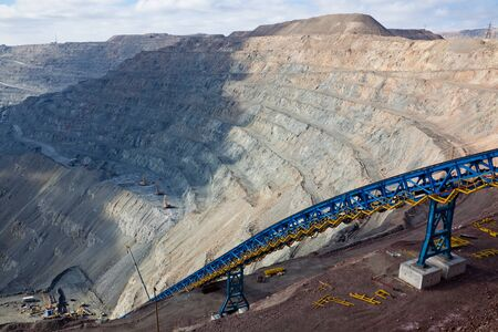 tailings: ore conveyor in open pit mining
