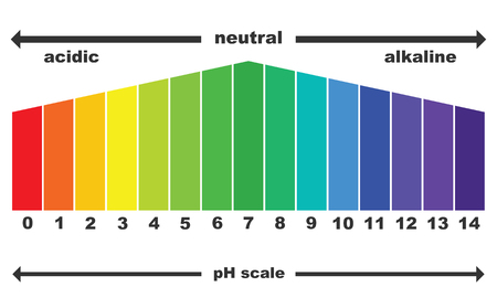 PH scale value, vector isolated