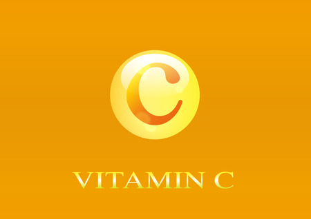 Vitamin C icon. Ilustrace