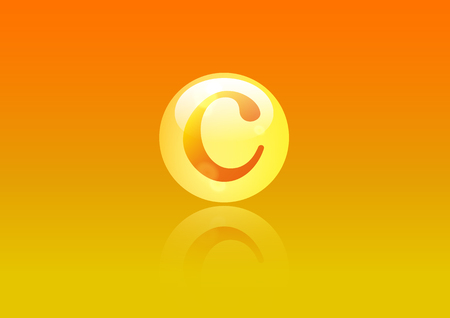 ascorbic: Vitamin C icon. Illustration