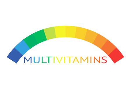 Multivitamin label inspiration, icon concept vitamins, vector isolated
