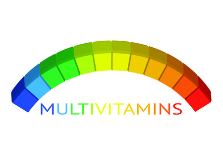 Multivitamin label inspiration, icon concept illustration. Illusztráció