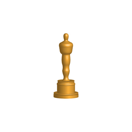 Gold statues icon, 3D vector isolated.