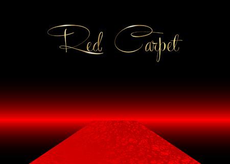 red carpet concept background, vector illustration Vector Illustration