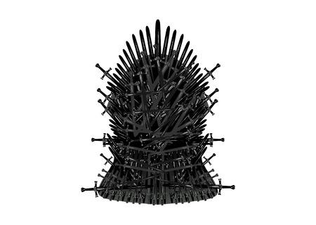Ikona żelaznego tronu. Ilustracja wektorowa na białym lub białym tle