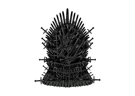 Iron throne icon. Vector illustration isolated or white background Stock fotó - 121908958