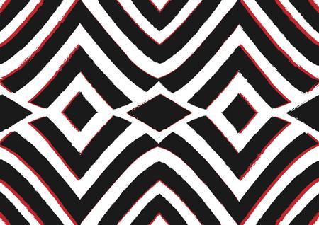 アフリカのプリント生地、部族パターンは幾何学的要素をモチーフにしています。ベクターテクスチャ、アフロテキスタイルアンカラファッションスタイル。パレオラップドレス、マリ産カーペットバティック 写真素材 - 121908965