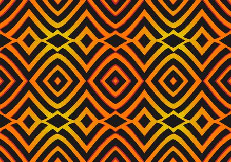 Tejido estampado africano, motivos tribales con motivos geométricos. Textura de vector, estilo de moda afro textil Ankara. Vestido cruzado pareo, alfombra batik de Mali