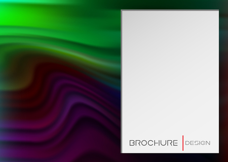 Colorful Liquid Shape Banner, Abstract Fluid soft Effect. gradient Wallpaper with Wave Shape in Movement with white rectangular space for text. Vector Placard, Banner, Brochure Cover or Landing Page