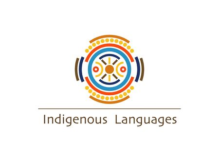 vector logo indigenous languages concept, isolated on white background